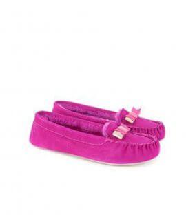Women's Sarsone  bow detail moccasin slippers