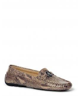 Carley Python-Embossed Loafer